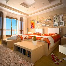 Mediterranean Bedroom by WHM Design