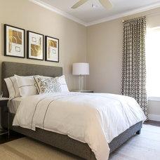 Transitional Bedroom by Barbara Gilbert Interiors