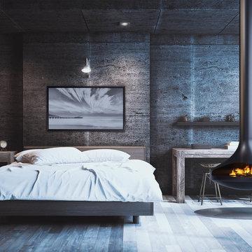 VITA Fireplaces CALLISTA Single-Sided   Suspended Fireplace