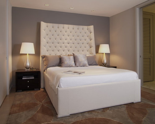 cream tufted headboard | houzz