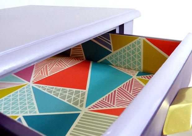 11 jolies fa ons de recycler des chutes de papier peint. Black Bedroom Furniture Sets. Home Design Ideas