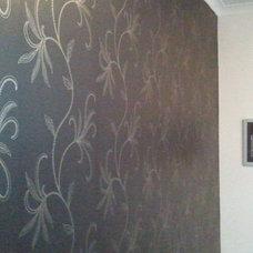 Contemporary Bedroom by Sydney Wallpapering
