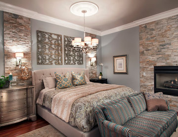 Walnut Creek master bedroom and library