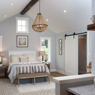 75 Beautiful Farmhouse Bedroom With Blue Walls Pictures Ideas December 2020 Houzz