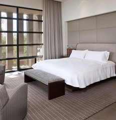 contemporary bedroom by Baker + Hesseldenz Design, Inc.