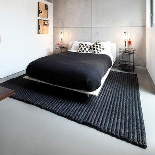 Inspiration pour une chambre d'amis urbaine de taille moyenne.