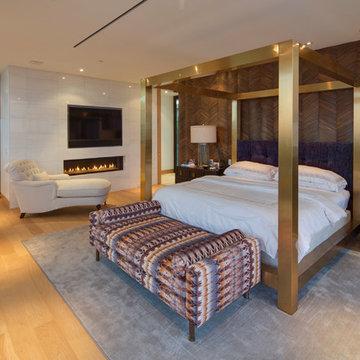 Warm Contemporary Master Bedroom