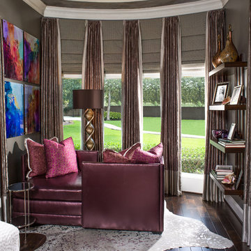Warm, Elegant, Contemporary with a touch of Glam