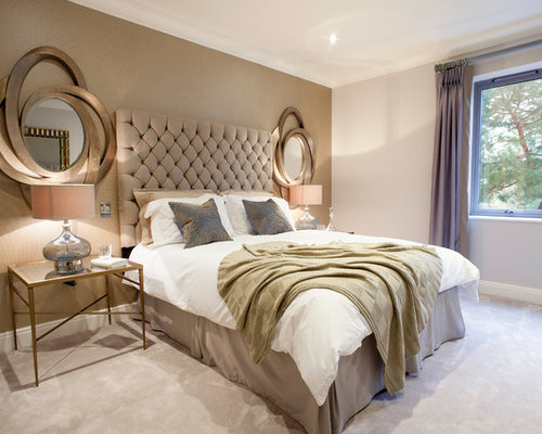 Houzz rose gold bedroom design ideas remodel pictures - Gold bedroom ideas ...