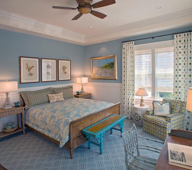 Beach Style Bedroom by Bruce Palmer Coastal Design