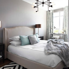 Transitional Bedroom by LUX Interior Design