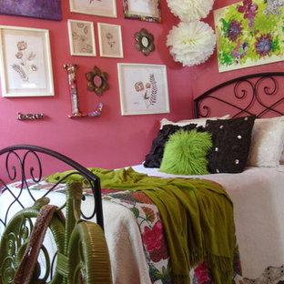 他の地域のエクレクティックスタイルのおしゃれな寝室のインテリア