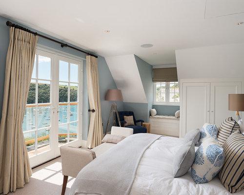 Design Ideas For A Beach Style Bedroom In Devon.