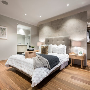 Contemporary bedroom in Perth.