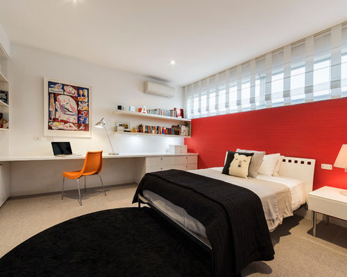 Bedroom design ideas renovations photos with carpet and for Bedroom ideas red carpet