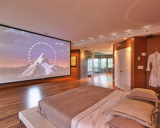 master bedroom home theater | houzz