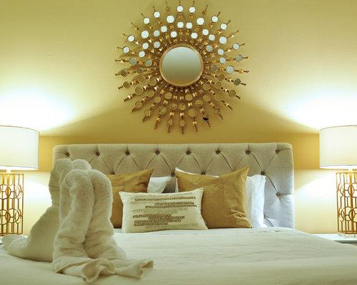 Yellow bedroom design ideas renovations photos with for Annmarie ruta elegant interior designs