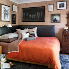 eclectic bedroom by Tommy Chambers Interiors, Inc.