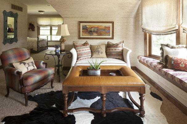Southwestern Bedroom by Eminent Interior Design