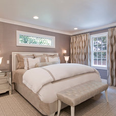 Contemporary Bedroom by Paula Caponetti Designs LLC