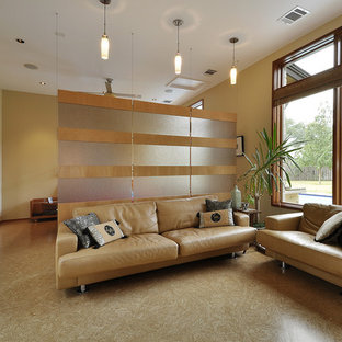 Inspiration for a contemporary bedroom remodel in Austin