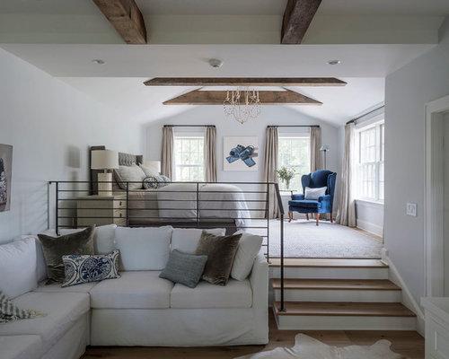 Camere Da Letto Pareti Grigie : Camera da letto stile loft in campagna con pareti grigie foto e