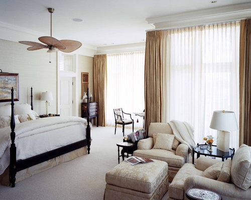Beautiful Inspiration For A Large Timeless Master Carpeted Bedroom Remodel In Atlanta  With Beige Walls