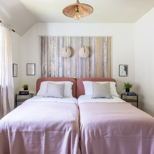 Design ideas for a coastal bedroom in Surrey.