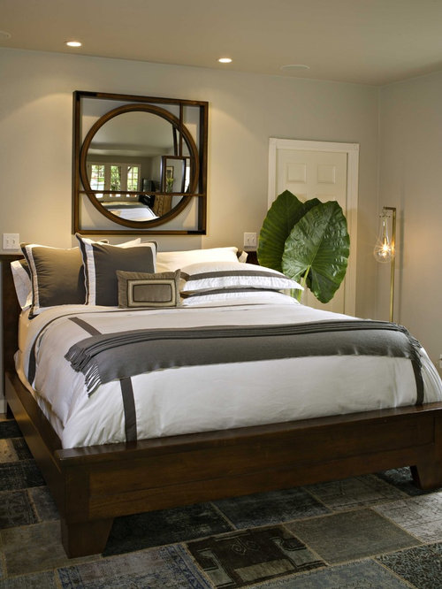 Mirror over bed houzz No dresser in master bedroom