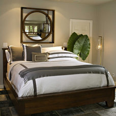 mediterranean bedroom by Susan Manrao Design