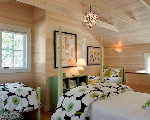 coastal guest bedroom photo in portland maine