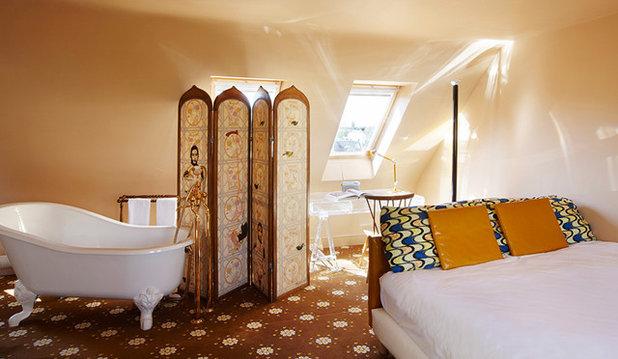 Bagno In Camera Con Vetro : Soluzioni per separare bagno e camera da letto senza muri