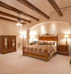 mediterranean bedroom by BedBrock Developers, LLC