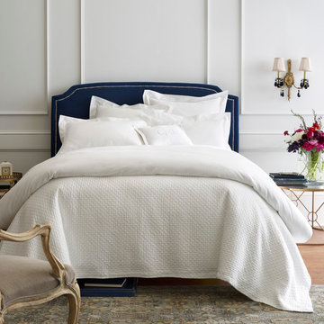 White Bedroom with Bold Accents