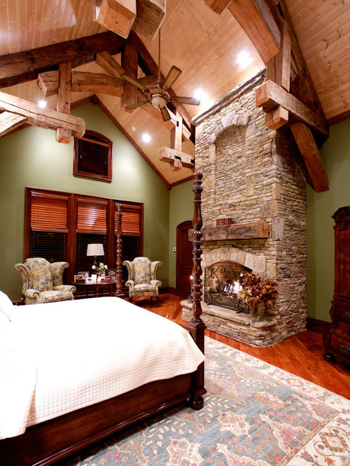 rustic master bedroom houzz. Black Bedroom Furniture Sets. Home Design Ideas