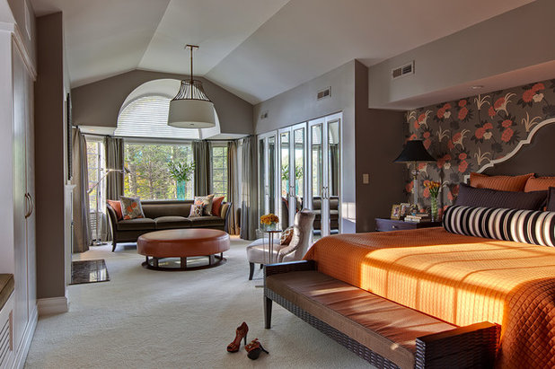 Transitional Bedroom by B Fein Interiors LLC