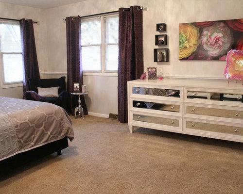 eklektische schlafzimmer in wichita ideen design bilder. Black Bedroom Furniture Sets. Home Design Ideas