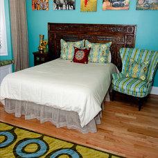 Eclectic Bedroom by Zimmerman Interiors