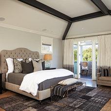 Transitional Bedroom by Brooke Wagner Design