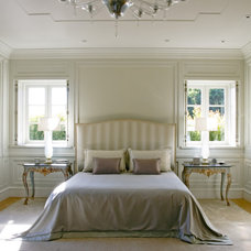 Transitional Bedroom by Studio William Hefner