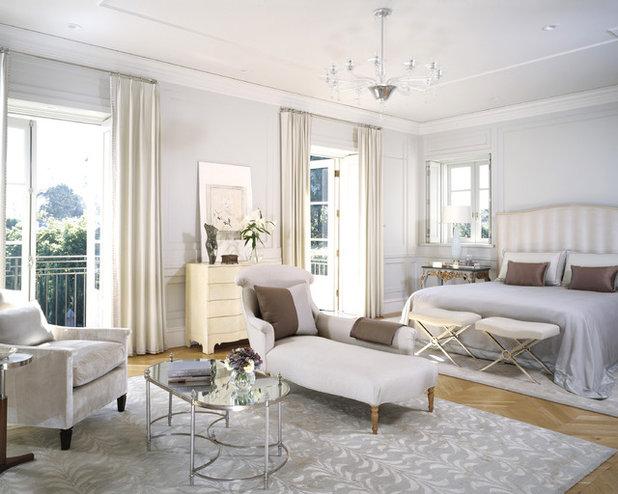 Transitional Bedroom by Studio William Hefner