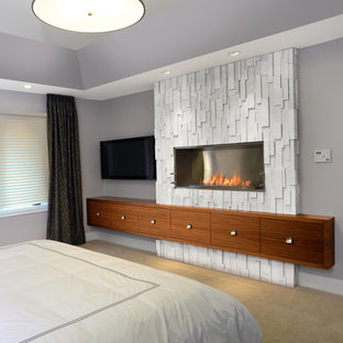 williamsville project - master bedroom fire feature