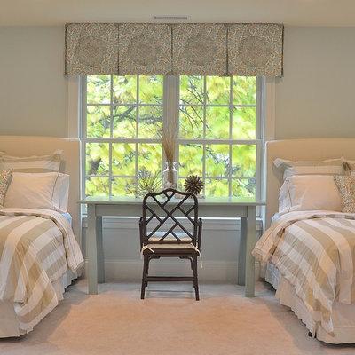Bedroom - traditional bedroom idea in Philadelphia with blue walls