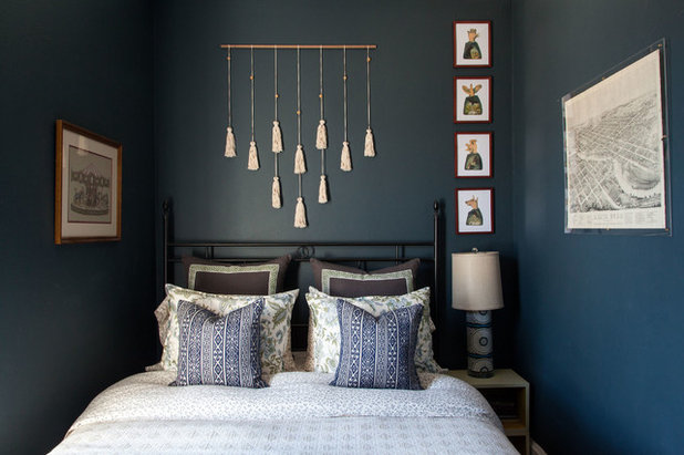 Eclectic Bedroom by Sarah Montgomery Design