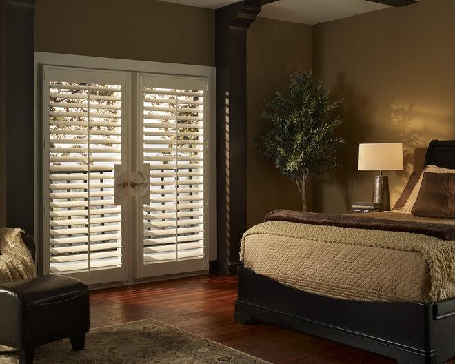 Doorwall window treatment for Shutter window treatment ideas