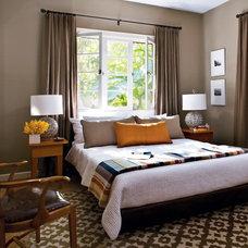 Contemporary Bedroom Window headboard