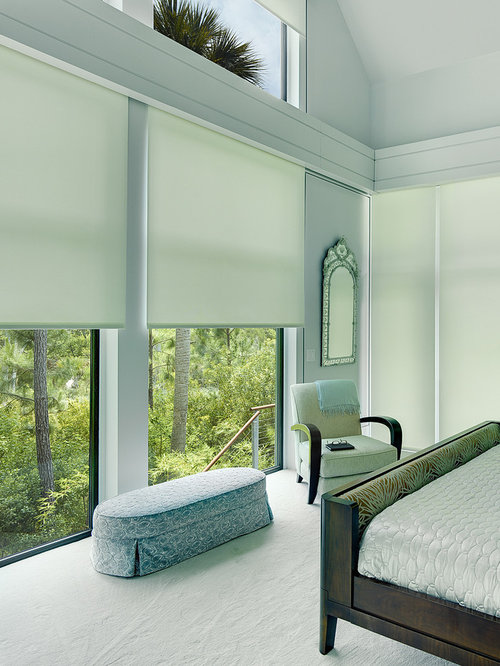 Motorized arched window shade home design ideas pictures for Motorized shades los angeles