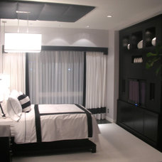Modern Bedroom by Christopher James Window Treatments