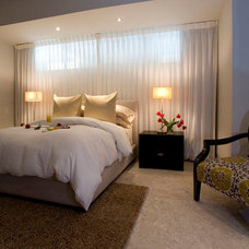 Contemporary Bedroom by Christopher James Window Treatments
