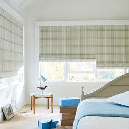 WINDOWS | Hunter Douglas - Hunter Douglas Design Studio Roman Shades with EasyRise